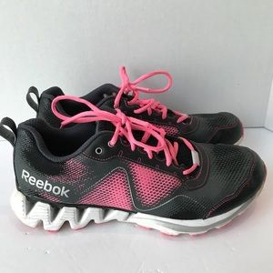 27601b449fe 10 Reebok Zig Tech black and pink athletic shoes
